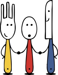 Image result for fork and knife cartoon